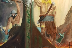 art-Charles-D.-Raby-Vikings Sigurd and Loki