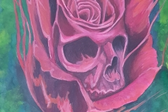 art-Charles-Raby-skullhead-in-rose
