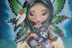 art - Charles - Butterfly-girl-with-little-woolff