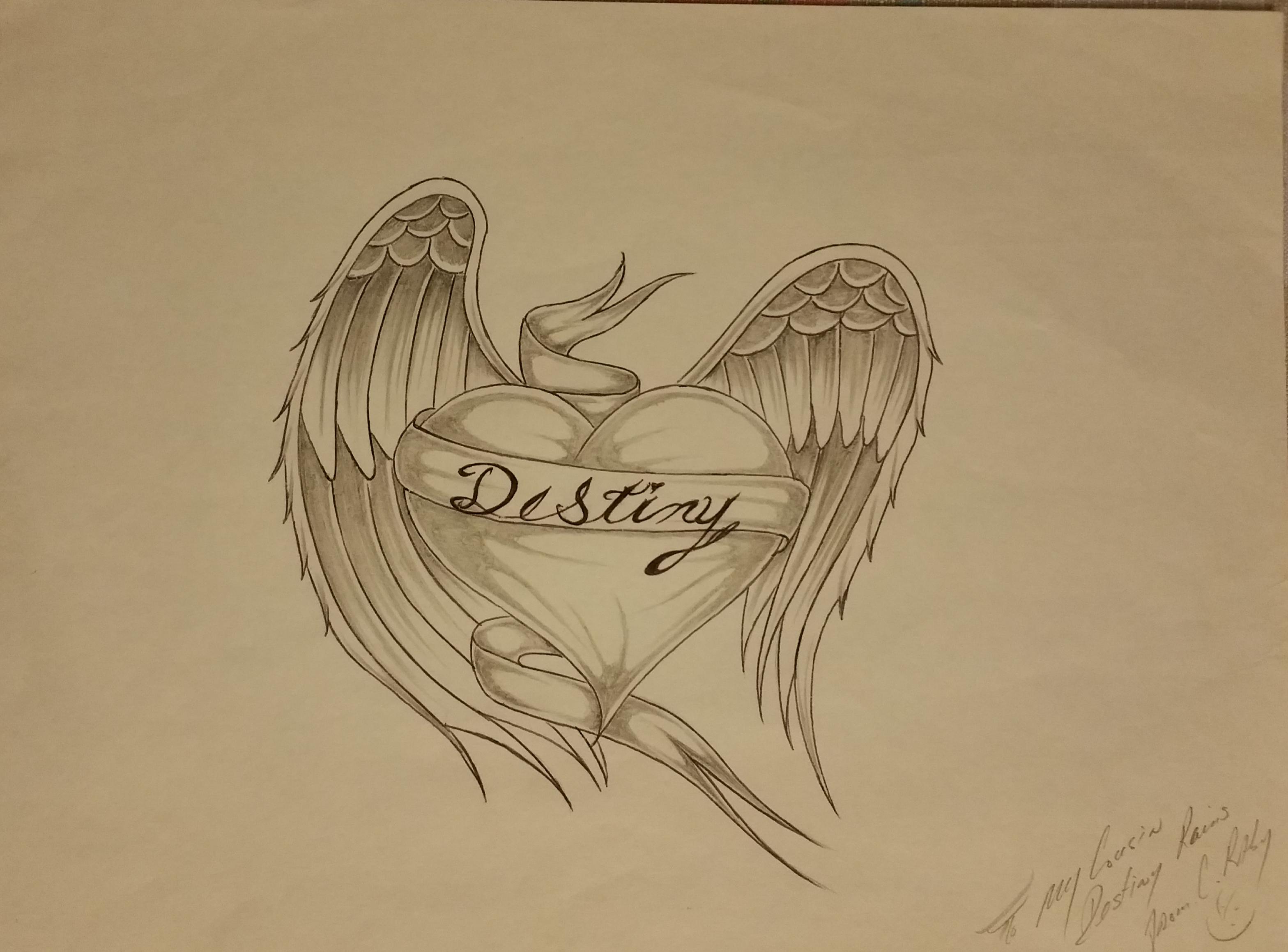 Heart on wings D.